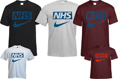 NHS T- SHIRT FITNESS SUPPORT NHS & KEY WORKER HEROES CHRISTMAS TOP GIFT