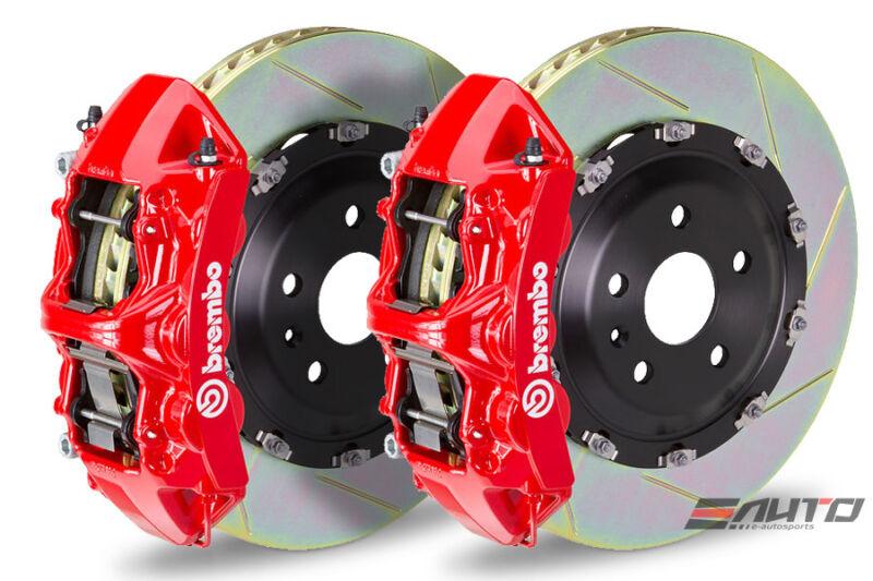 Brembo Front Gt Big Brake Bbk 6piston Red 380x34 Slot Disc Camaro Ss 10-14