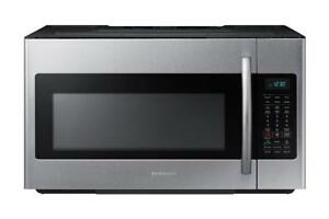 Samsung 1.8 cu. ft. Over-the-Range Microwave Hood Combo with Ceramic Cavity in Stainless Steel (SAM1004)