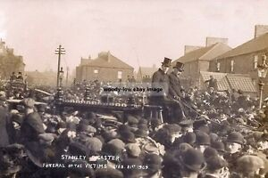 rp14106 - Victims Funeral , Stanley Mining Disaster 1909 , Durham - photo 6x4