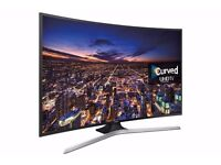 """4K UHD JU6740 Curved Smart TV - 48"""" used very good condition huge collection of dvd/blu ray apple tv"""