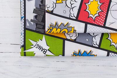 Pop-art Comic (0,5 M, 100% Baumwolle Stoff Pop Art Retro  Comic Cartoon )