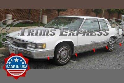 1989-1990 Cadillac DeVille 2Dr Coupe Chrome Rocker Panel Trim Body Side FL