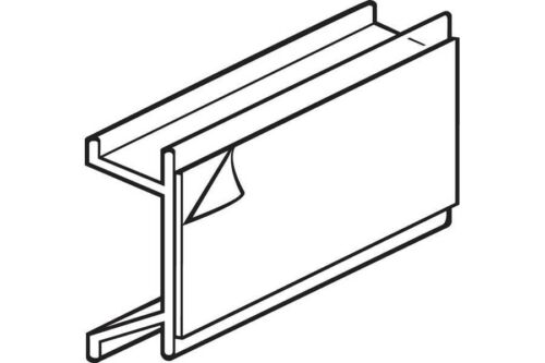 Sign Holder-Channel Mount with Adhesive-25 pieces