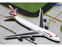 GEMINI JETS GJ1858 BRITISH AIRWAYS BOEING 747-400 negus livery G-CIVB 1-400 SCAL