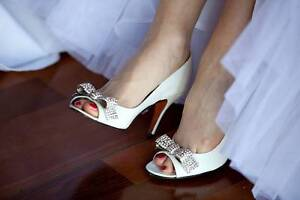 Gary Castles Sydney Pomeranian White Wedding Shoes, Size 36 Albany Creek Brisbane North East Preview