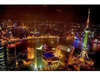 London to Shanghai Discount Flight Tickets - Depart October or November