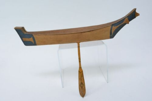 FINE OLD NORTHWEST COAST NUU-CHAH-NULTH NOOTKA CANOE - Old Seattle Collection