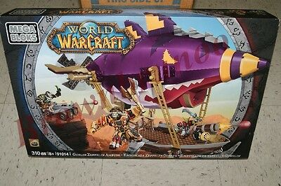 Mega Bloks World of Warcraft Goblin Zeppelin Ambush w/ Secret Loot 310 Pc