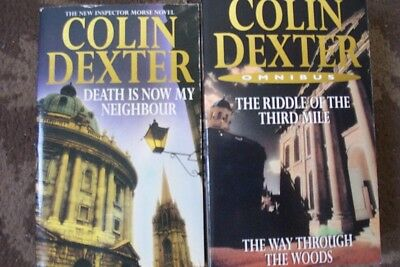 2 COLIN DEXTER-MORSE BOOKS PAPERBACK--LOT 1