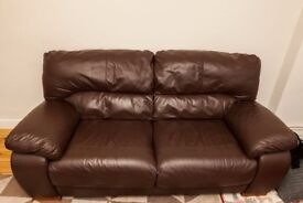 2 beautiful leather sofas
