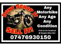 Scrap Motorcycles - Manchester Area