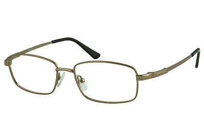 Icy 751 Rectangular Metal Prescription Glasses For Men With Curved Side (Curved Prescription Glasses)