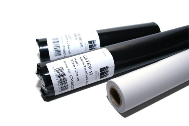 Gateway Drafting Tracing Paper On A Roll - Choose Your Size & Weight