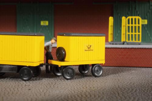 Auhagen 43663 Tt Gauge Electric Cart Post with Trailer # New Original Packaging