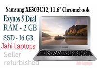 """Samsung XE303C12, 11.6"""" Chromebook, Exynos 5 Dual, 2GB Ram, 16GB SSD - 0459"""