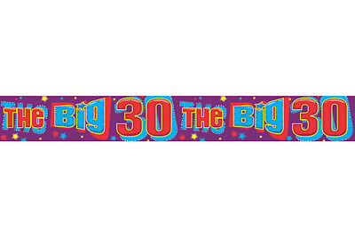Big 30th Happy Birthday Banner Fancy Dress Party Decoration Accessories One Size - 30th Birthday Accessories