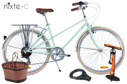 Retro Unisex | 7 Speed 'Nixte-C' | Basket, Light, Rack & Delivery Melbourne CBD Melbourne City Preview