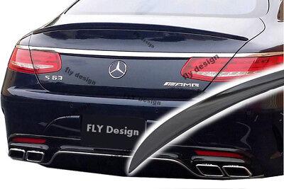 Mercedes S Klasse Tuning Coupé Cabrio ab 2014 Tesoro SCHWARZ SPOILER Hecklippe