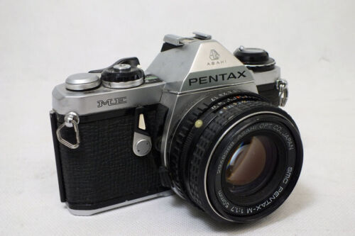 Vintage Pentax ME 35mm Camera 50mm 1:1.7 Lens Silver Body - Untested