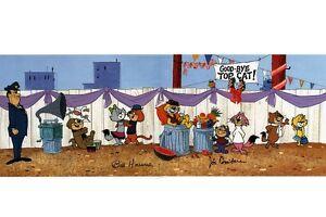 TOP CAT &  the GANG PRINT Hanna Barbera - GOOD BYE TOP CAT