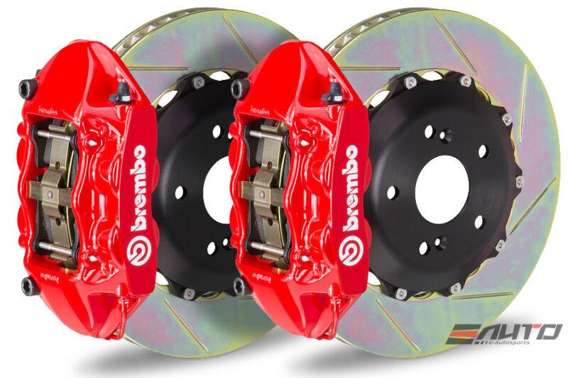 Brembo Front Gt Brake Bbk 4piston Red 328x28 Slot Rotor For Miata Mx-5 Mx5 16-17