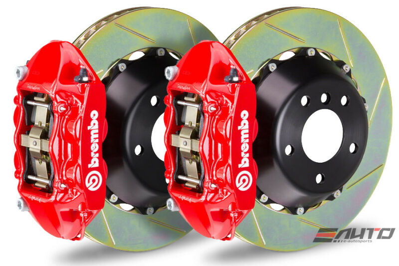 Brembo Front Gt Bbk Brake 4pot Red 345x28 Slot Disc Rotor Veloster Turbo 13-14