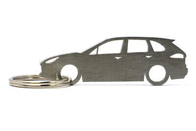 Silhouette Keychain Keyring for Porsche Cayenne (2nd Gen 92A)