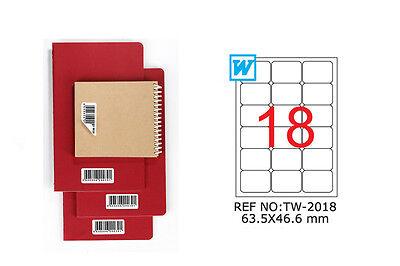 TANEX TW-2018 Hinweis label wiederablösbar weiß 63,5x46,6 runde Ecken 25 Bl. A4