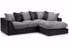 Superb Quality New Italian Jumbo Cord Byron Or Dylan Corner Sofa - Avlble in 3+2 Seater Aswell