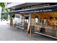 Chefs/Kitchen Assistant wanted at Le Pain Quotidien in London £7.20ph + great benefits in