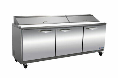Mvp Group Ikon Isp72m Refrigerated Mega Top Sandwich Salad Prep Table 30 Pans