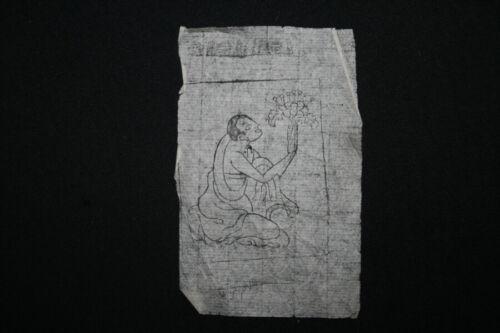 Mongolian Tibetan Mantra Amulet Manuscript Sutras Book Leaves Mongolia 3642