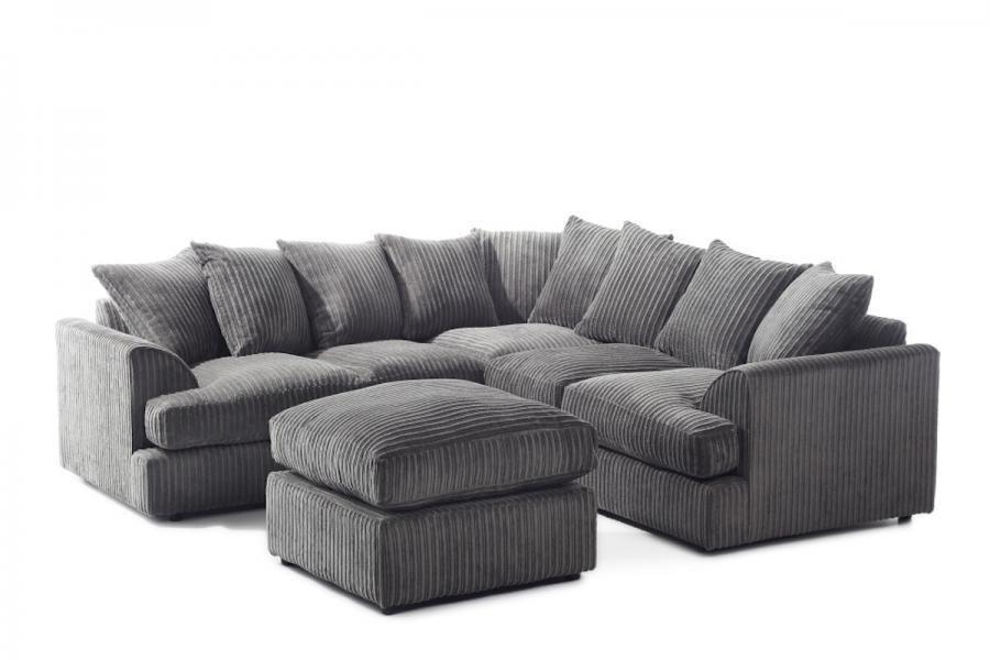 14 day money back guarantee jamba corded fabric corner sofa or 3 and 2 sofa set brand. Black Bedroom Furniture Sets. Home Design Ideas