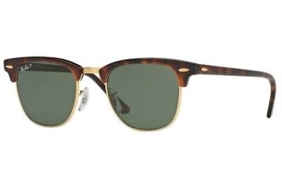 Ray-Ban RB3016 49mm or 51mm Classic Polarized Clubmaster Sunglasses 100% (Ray Ban Clubmaster 49mm Sunglasses)