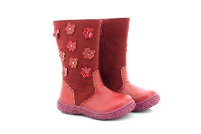 Mädchen Kleinkinder Rot Lange Stiefel Blumen Design Chatterbox Cinderella