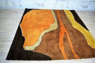 60er 70er Jahre Besmer Teppich, Läufer Malmö 225x225cm