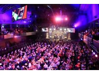 DARTS TICKETS GRAND SLAM OF DARTS THE FINAL X 2 TABLE SEATS MUST GO
