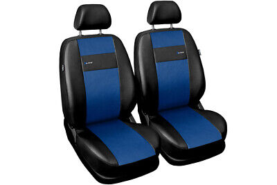 Schwarz-blaue Velours Sitzbezüge für DACIA SANDERO Autositzbezug Komplett