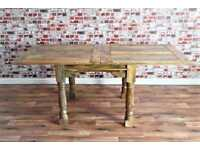 Rustic Reclaimed Kitchen Folding Extending Hardwood Dining Table - Delivery Available