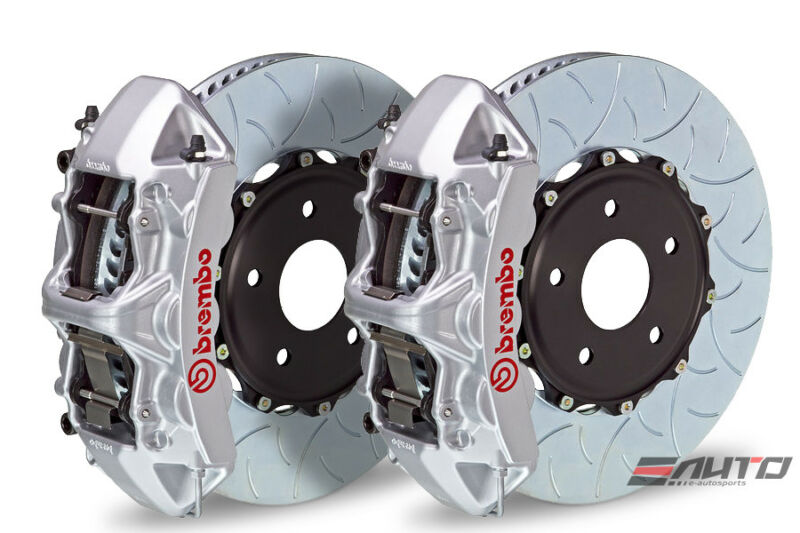 Brembo Front Gt Big Brake 6pot Caliper Silver 380x32 Type3 Disc Camaro V6 10-14