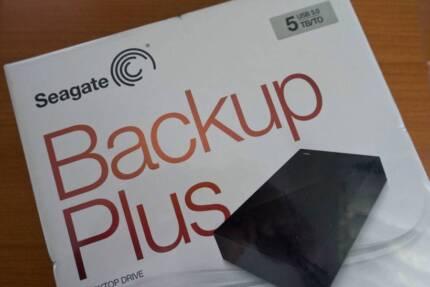 Seagate Backup Plus 5TB Desktop Drive USB 3.0 (New) Sydney Pickup
