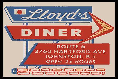 Lloyds Diner Johnston Rhode Island Fridge Magnet