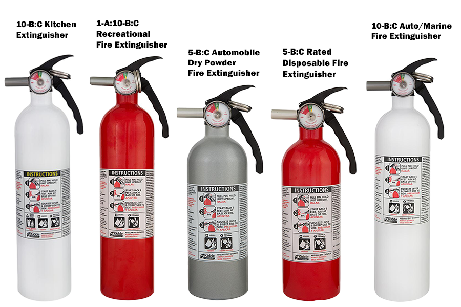 Kidde Fire Extinguisher Auto Marine Kitchen Recreational Dis