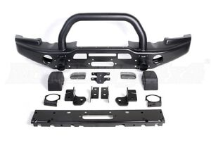 Jeep Wrangler AEV Front and Rear Bumpers with Warn Winch