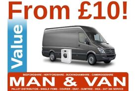 Cheap man and van removals courier service