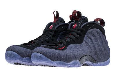 fa297d968f1 Nike Air Foamposite One SZ 9.5 Denim Obsidian Black University Red 314996 -404