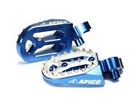 New Blue Apico Pro Bite Wide Foot Pegs YZ YZF 85 125 250 450 Footpegs