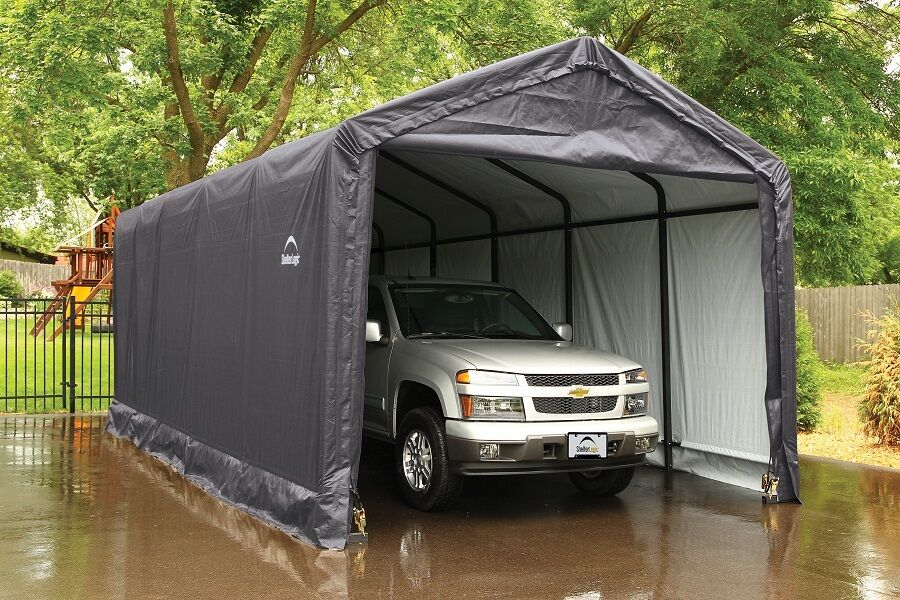 Portable 2 Car Canopies : Items in carport and portable garage store on ebay