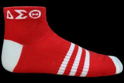 Delta Sigma Theta Sorority Multi-Color Ankle Socks- Red-New!